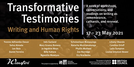 Transformative Testimonies: The Future of Human Rights Writing tickets