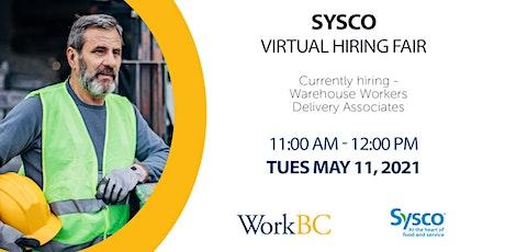 Sysco Virtual Hiring Fair tickets