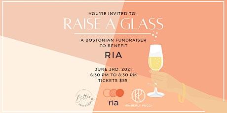 """Raise a Glass"" – Fundraiser for RIA tickets"