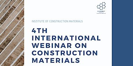 4th International Webinar on Construction Materials tickets