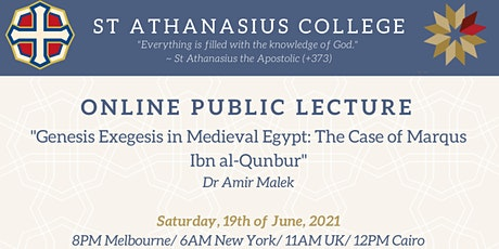 SAC Public Lecture: Genesis Exegesis in Medieval Egypt by Amir Malek tickets