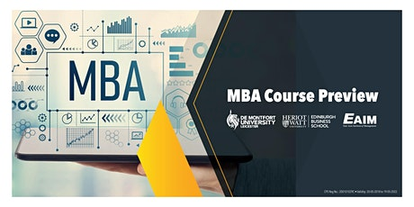 MBA Course Preview tickets