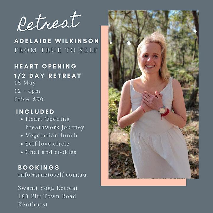 Heart opening breathwork 1/2 day retreat  ~ Swami's Yoga Retreat Kenthurst image