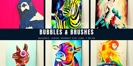 Bubbles & Brushes, Paint night tickets