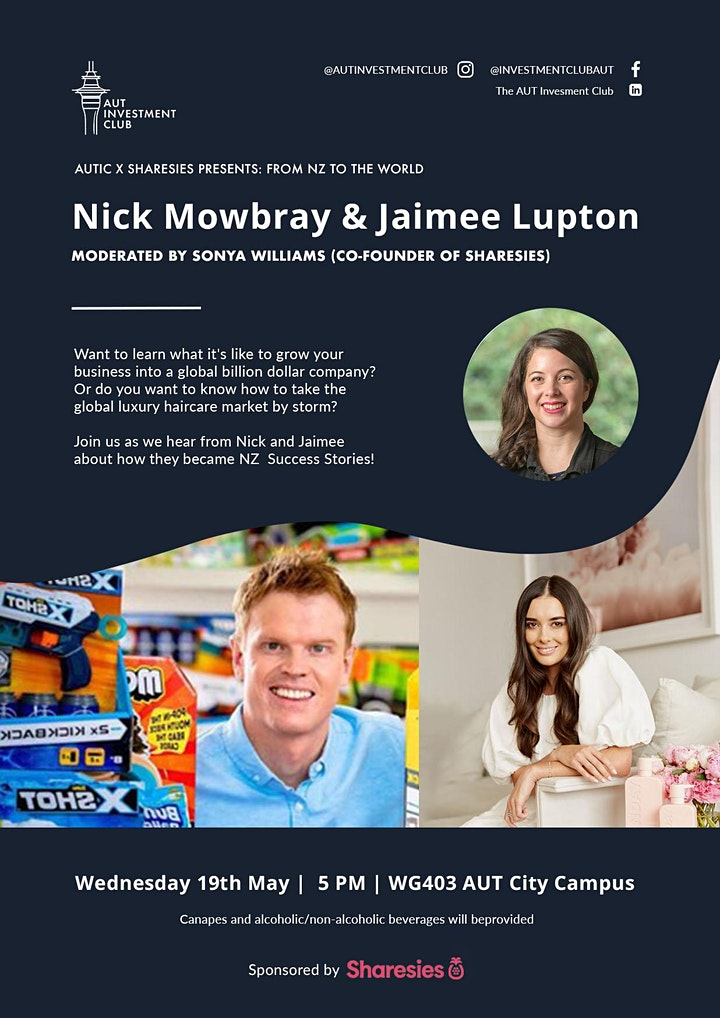 Nick  Mowbray & Jaimee Lupton: From NZ to the world image