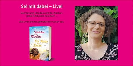 """Petra Schier liest auf Zoom aus """"Vier Pfoten am Strand"""" Tickets"""