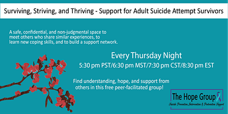 Suicide Attempt Survivor/Adults with Suicidal Thoughts Support Group tickets