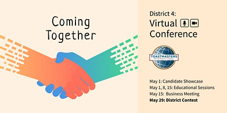 Coming Together, the District 4 Annual Conference – District Contest/HoF tickets