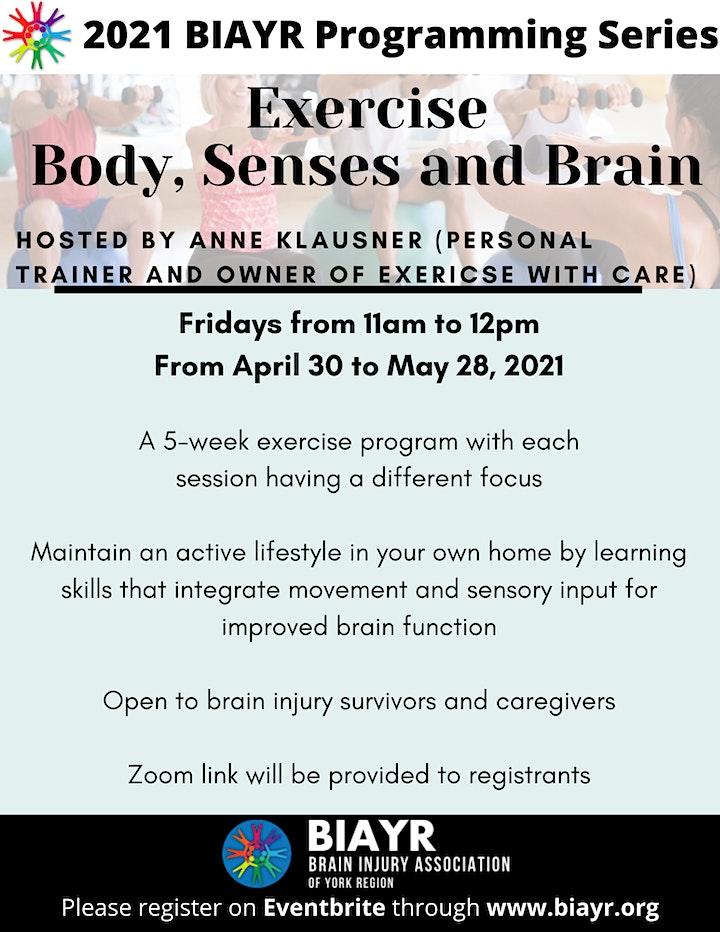 Exercise Body, Senses and Brain - 2021 BIAYR Programming Series image