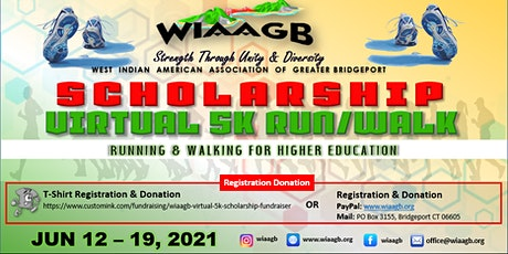 WIAAGB Scholarship Virtual 5K Run/Walk tickets