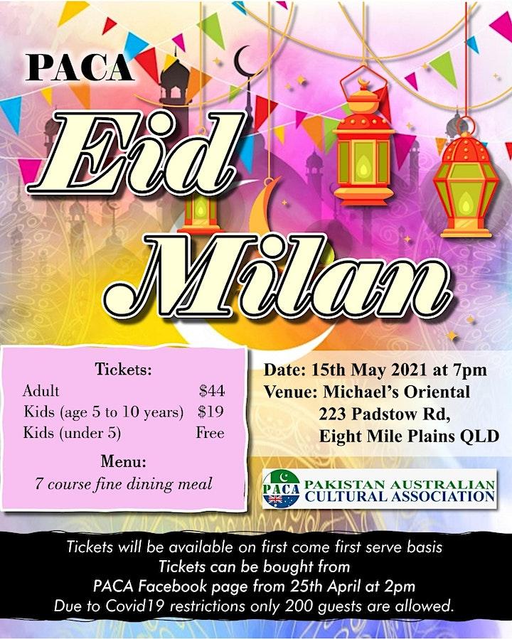 Eid Milan & Dinner 2021 by Pakistan Australian Cultural Association (PACA) image
