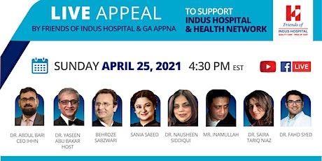 Copy of Live Appeal for Friends of Indus Hospital tickets