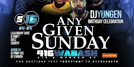Any Given Sunday Day Party tickets