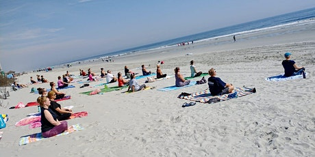 """NEW! Sat. AM """"Bucket List"""" BEACH YOGA for Locals, Visitors & All Levels! tickets"""