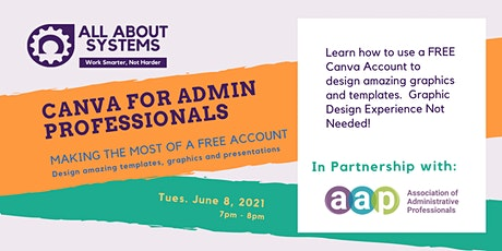Canva for Administrative Professionals tickets