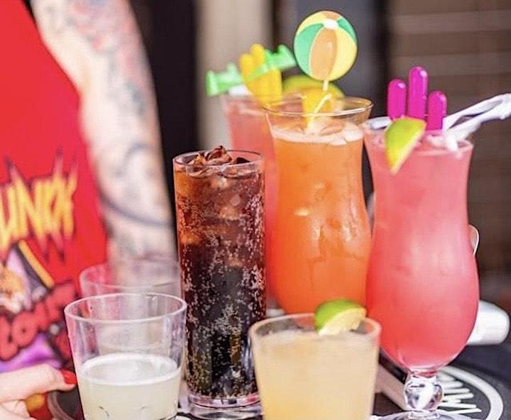 Tacos & Outdoor Movie: Three  Amigos in the Retro Junkie Beer Garden @ 8PM image