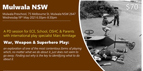 War, Weapon and Superhero Play at Mulwala NSW tickets