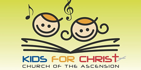 COA Sunday School - Registration for Kids for Christ (9 May) tickets