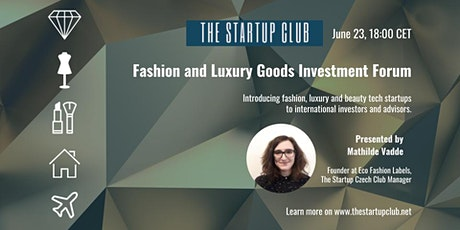 Fashion and Luxury Goods Investment Forum tickets