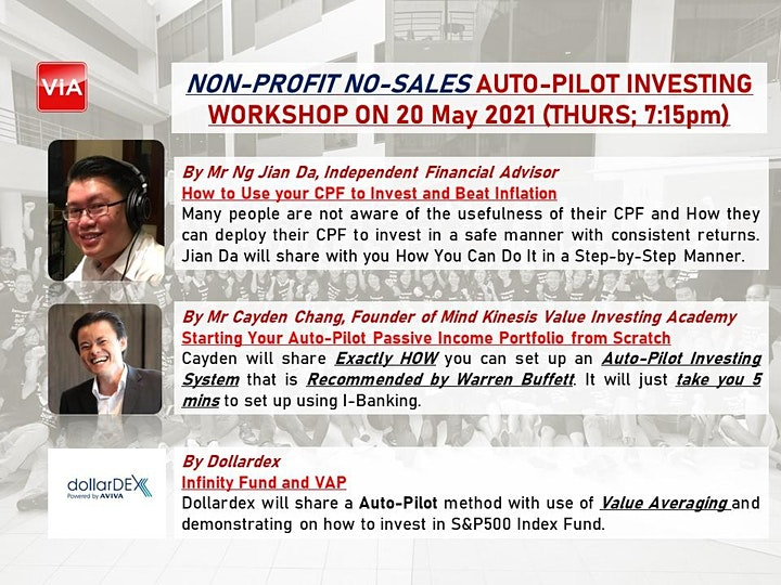 AUTO-PILOT INVESTING WORKSHOP WITH DOLLARDEX image