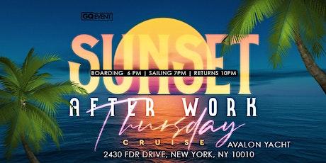 Sunset afterwork Thursday cruise tickets