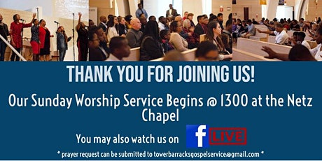 TBGS Sunday Worship Tickets