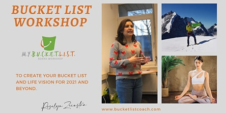 Create your personal Bucket List for 2021 and achieve your goals tickets
