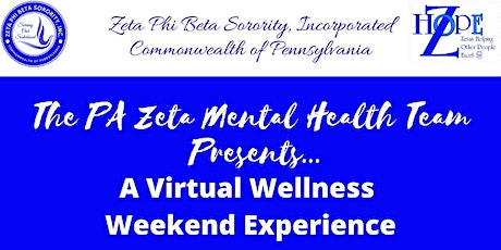 ZPhiB Commonwealth of Pennsylvania -  Virtual Wellness Weekend tickets