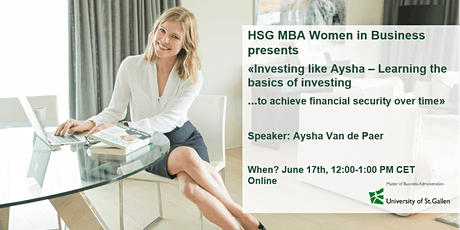 Investing like Aysha - Learning the basics of investing tickets