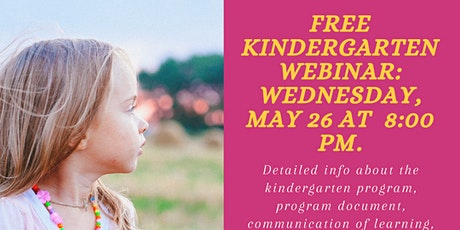 Kindergarten Information Webinar tickets
