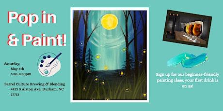 Pop In & Paint - Moonlight Fireflies. tickets