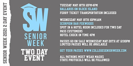 Senior Week 2021 tickets