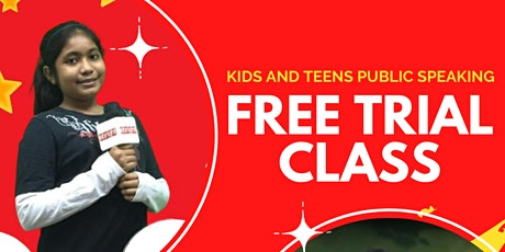 [FREE CLASS] ONLINE KIDS OR TEENS PUBLIC SPEAKING (AGE 7-16) tickets
