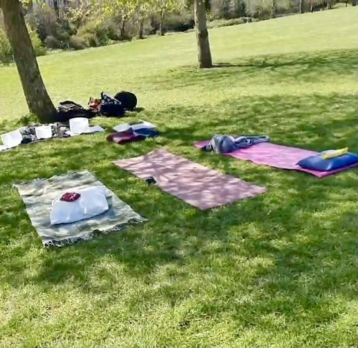 1 Hour ~ Outdoor Crystal Sound Bath Healing & Guided Meditation image