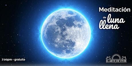 Meditación de luna llena entradas