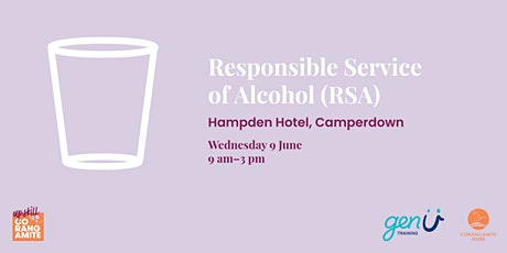 Responsible Service of Alcohol (RSA) tickets