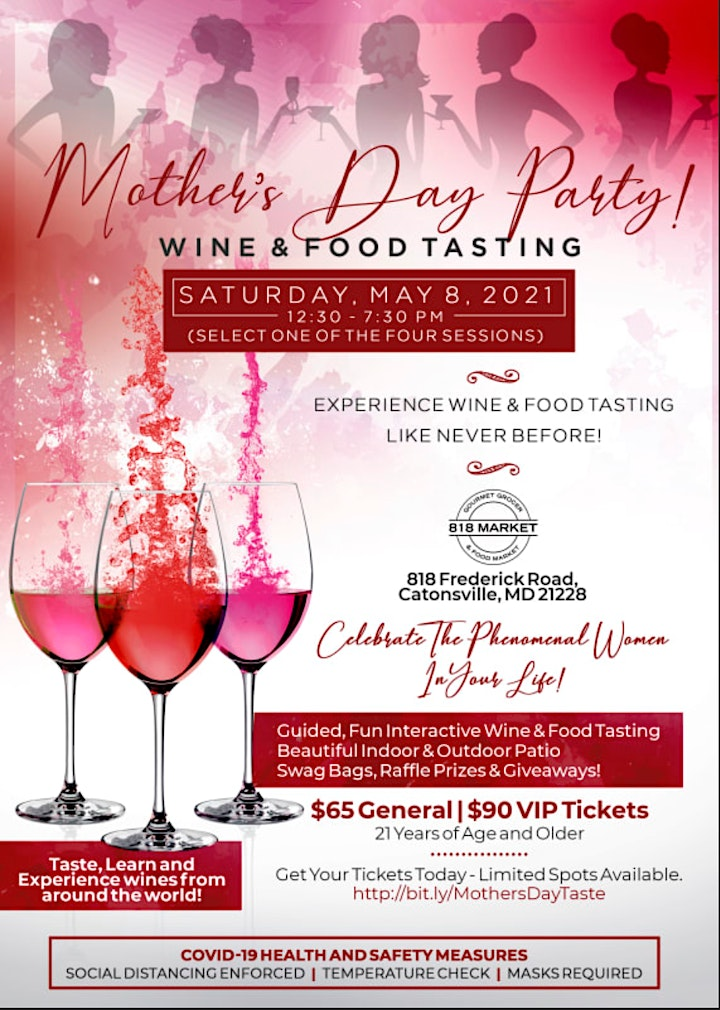 Pre-Mother's Day Party | Wine & Food Tasting - #4 Sessions! image