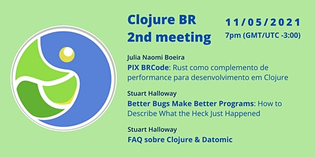 Meetup Clojure BR - 2ª Edição ingressos