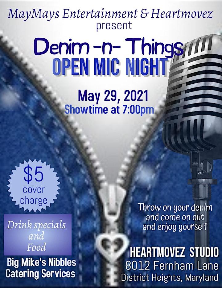 Denim -n- Things Open Mic Night image