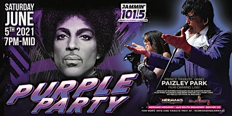 PURPLE PARTY - feat. Paizley Park (Prince's B-Day Tribute/Honor/Party) tickets