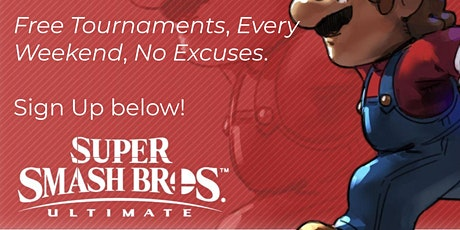 Super Smash Bros Ultimate Free Tournament tickets