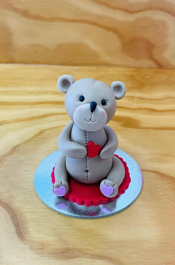 Fondant modelling - Teddy Bear Cupcake topper image