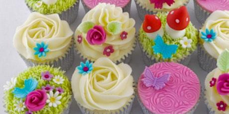 Garden theme cupcakes tickets