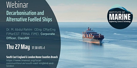 WEBINAR: Decarbonisation and Alternative Fuelled Ships tickets