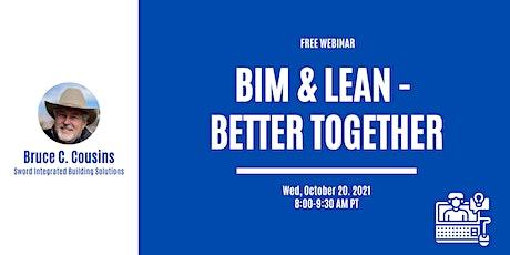 BIM & Lean - Better Together tickets