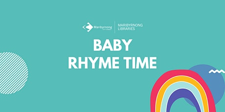 Baby Rhyme Time Yarraville Library tickets
