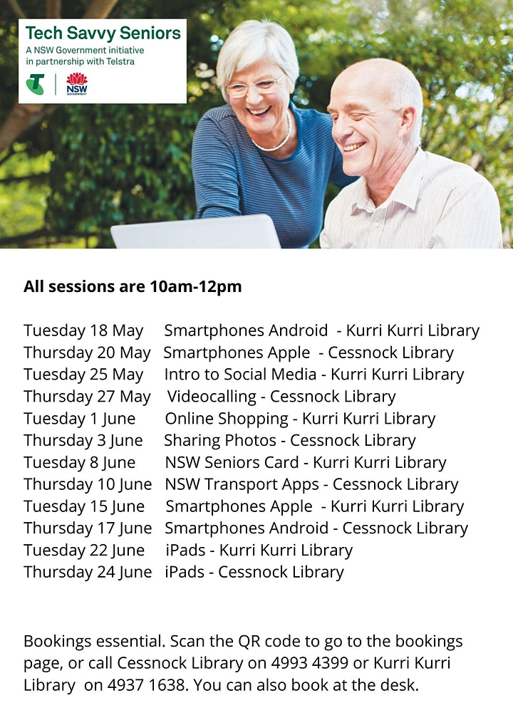 Tech Savvy Seniors, Videocalling - Cesnock Library image