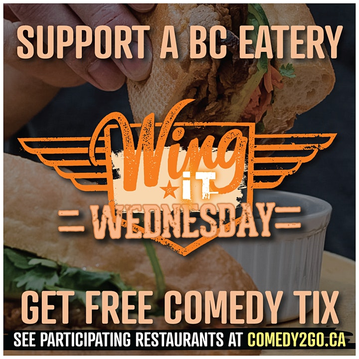 Comedy2Go presents: Wing It Wednesday | Online Comedy Show image