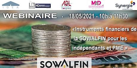« Instruments financiers de la SOWALFIN pour les indépendants et PME » billets