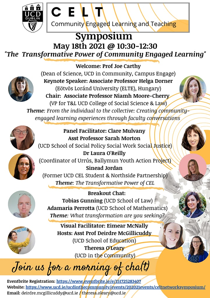 UCD CELT (Community Engaged Learning and Teaching) Symposium image